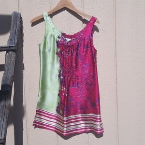 Cabi 100% Silk Cosmo Floral Sleeveless Tunic Top S